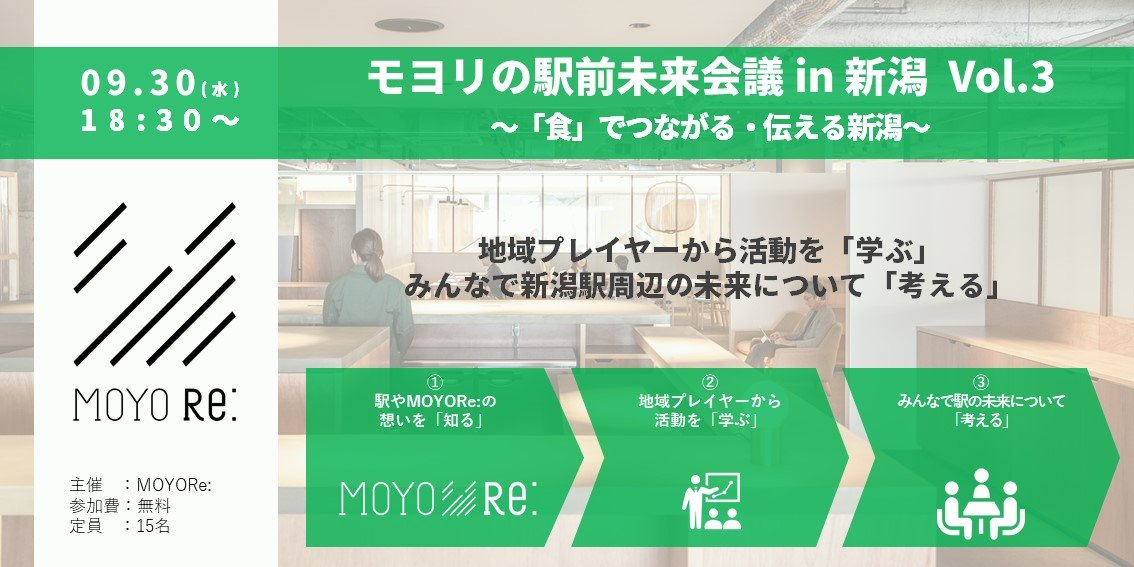 モヨリの駅前未来会議in新潟 Vol.3~「食」でつながる・伝える新潟~